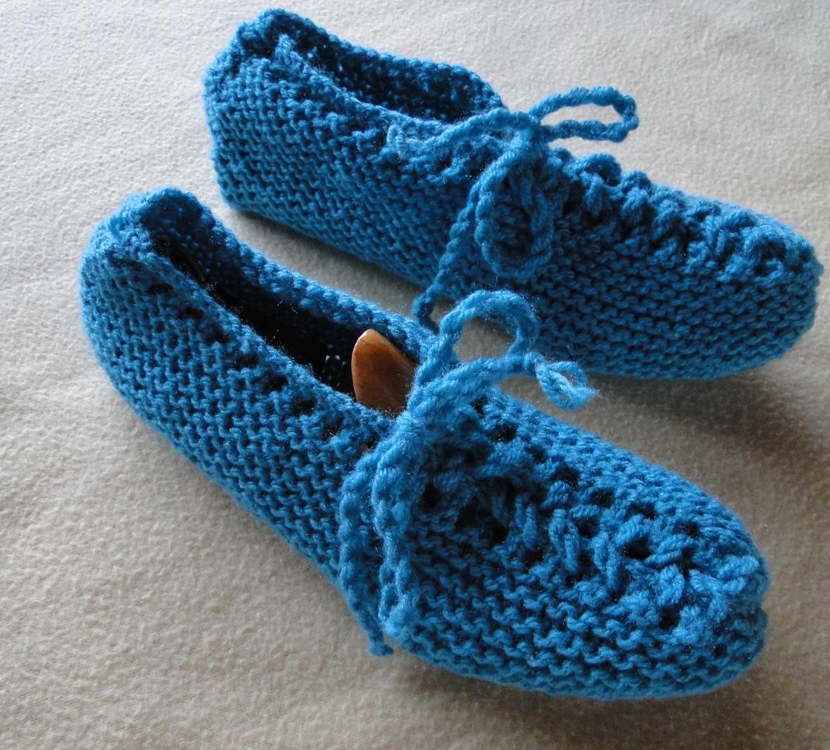 modèle tricot chausson adulte facile